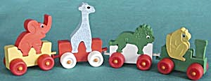 Vintage Rubber Circus Train With Animals