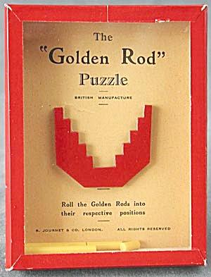 Vintage Golden Rod Dexterity Game Puzzle (Image1)