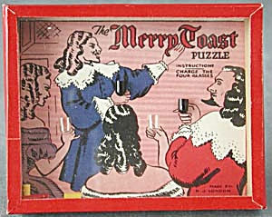 Vintage Merry Toast Dexterity Game Puzzle (Image1)