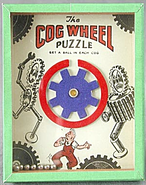 Vintage Cog Wheel  Dexterity Game Puzzle (Image1)