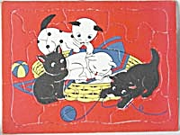 Vintage Fuzzy Kittens Sta-n-place Puzzle