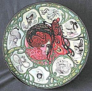 Vintage Art Nouveau Style Circular Puzzle Hats (Image1)