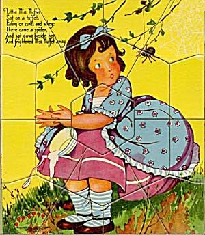 Vintage Little Miss Muffet Puzzle (Image1)