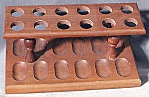 Vintage Wooden 12 Pipe Rack (Image1)