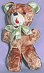 Vintage Teddy Bear With Satin Ears