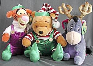 Disney Plush Christmas Winnie the Pooh, Tigger & Eeyore (Image1)