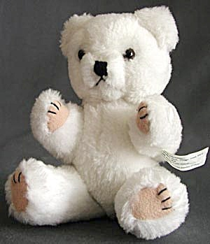 Jointed White Teddy Bear (Image1)