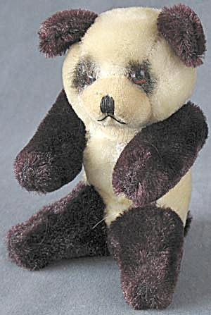 Vintage Panda Plush Jointed