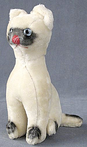 Vintage Siamese Cat Plush Toy (Image1)