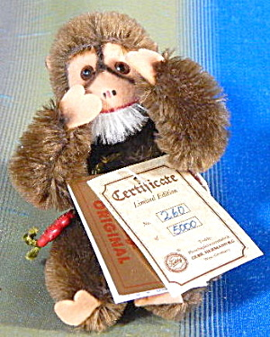 Vintage Hermann Teddy Original Monkey