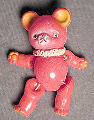 Vintage Occupied Japan Jointed Celluloid Teddy Bear (Image1)