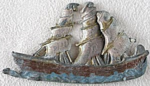 Vintage Lead Clipper Ship  (Image1)