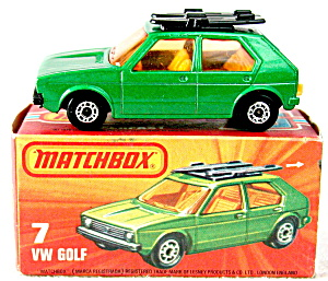 Matchbox Lesney No.7e Volkswagen Golf In Box