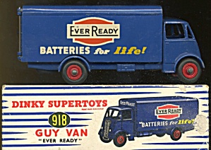 Vintage Dinky Toys 918 Guy Van ever Ready Decal