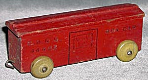 Vintage Wooden Train Box Car (Image1)