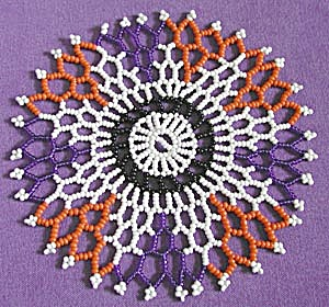 Vintage Beaded Doily (Image1)