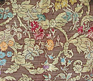 Vintage Raised Floral Design Upholstery Sample (Image1)