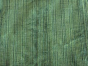 Vintage Green With Cross Hatch Pattern Velour Fabric
