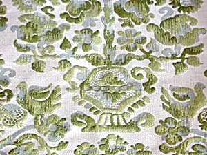 Vintage Blue & Green Fabric (Image1)