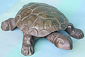 Vintage Cast Iron and Tin Turtle Cuspidor (Image1)