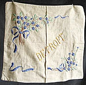 Vintage Detroit Pillow Cover