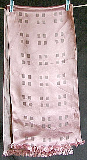 Vintage Pink & Gray Check Runner