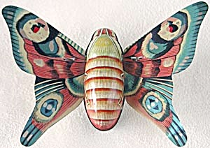 Vintage Tin Litho Friction Moth Toy   (Image1)