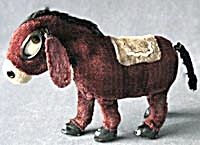 Vintage Mechanical Wind Up Toy Winking Donkey