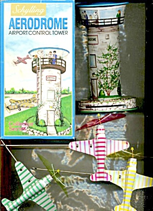 Vintage  Aerodrome Airport Control Tower Wind Up Toy (Image1)