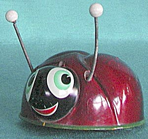Vintage Friction Ladybug Toy