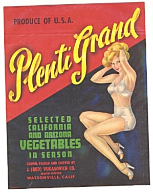 Plenti Grand Vegetable Label