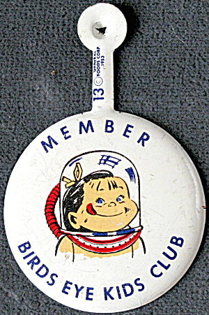Vintage Birds Eye Kids Club Tab Pin