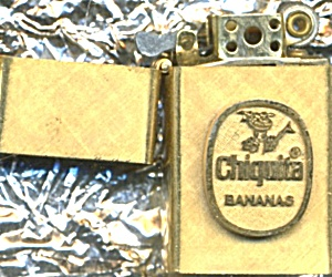 Chiquita Banana 14k Gold Plated Cigarette Lighter