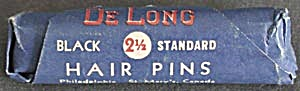 Vintage De Long Metal Hair Pins in Original Package (Image1)