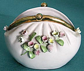 Vintage Lefton Vanity Container-Purse Design (Image1)