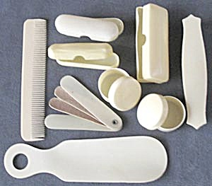 Vintage Celluloid French Ivory Dresser Pieces (Image1)