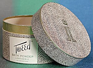 Vintage Tweed Bath Powder Box