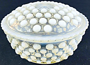 Hobnail Moonstone Opalescent Covered Box