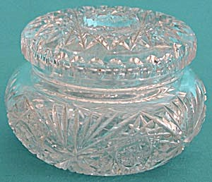 Vintage Cut Glass Powder Box (Image1)