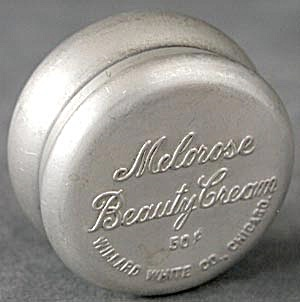 Vintage Aluminum Melorose Beauty Cream Tin (Image1)