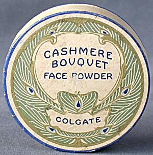Vintage Cashmere Bouquet Powder Box Peacock Graphics