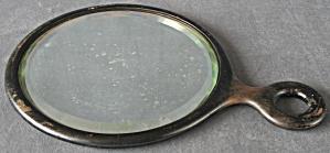 Antique Wooden Round Mirror (Image1)