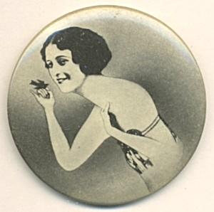 Art Deco Celluloid Flapper Pocket Mirror (Image1)