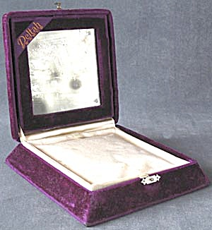 Vintage Deltah Pearl Empty Mirrored Box