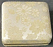 Vintage Metallic Fabric Jewelry Box (Image1)