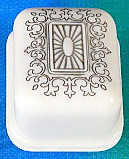 Vintage Celluloid Ring Box Gray Velvet Bottom (Image1)