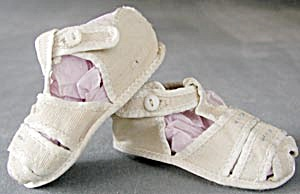 Vintage Cloth Baby Shoes