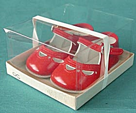 Vintage Red Baby Shoes