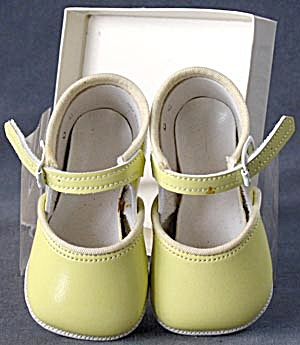 Vintage Yellow Baby Shoes