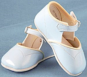 Vintage Blue Baby Shoes